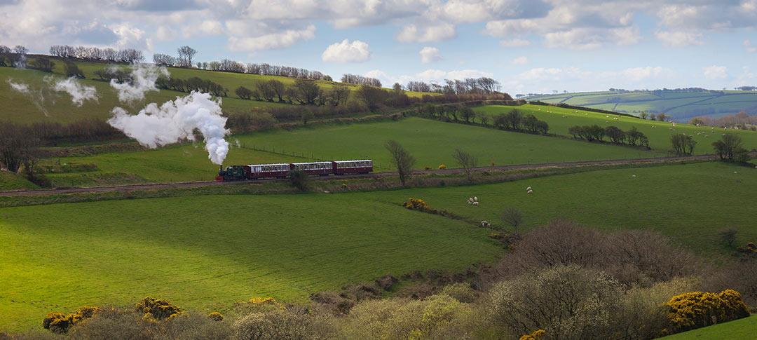 Steam train on Barnstable Lynton railway