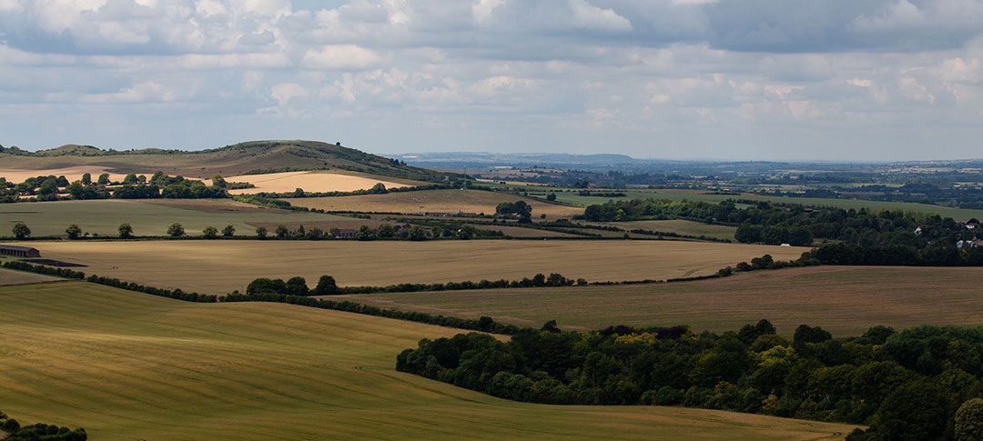 View across the Chilterns in Bedfordshire