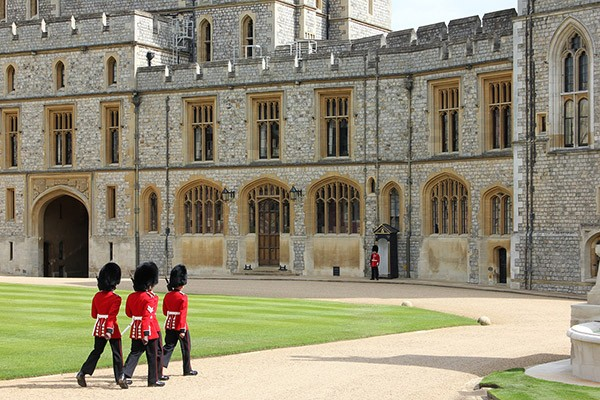 Soldiers at Windsor Castle in Berkshire