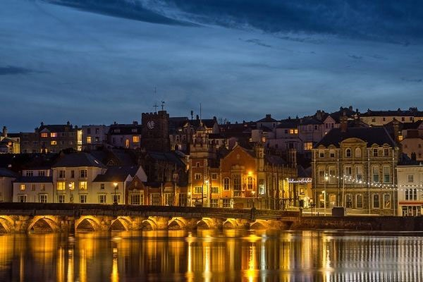 View of Bedeford at night