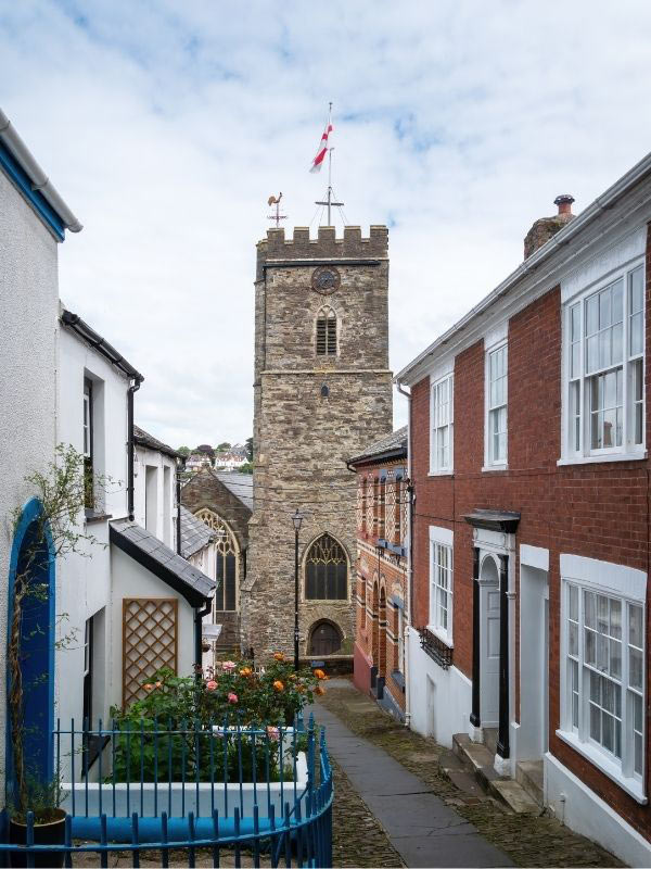 View of St Mary's church in Bideford