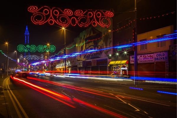 Blackpool at night