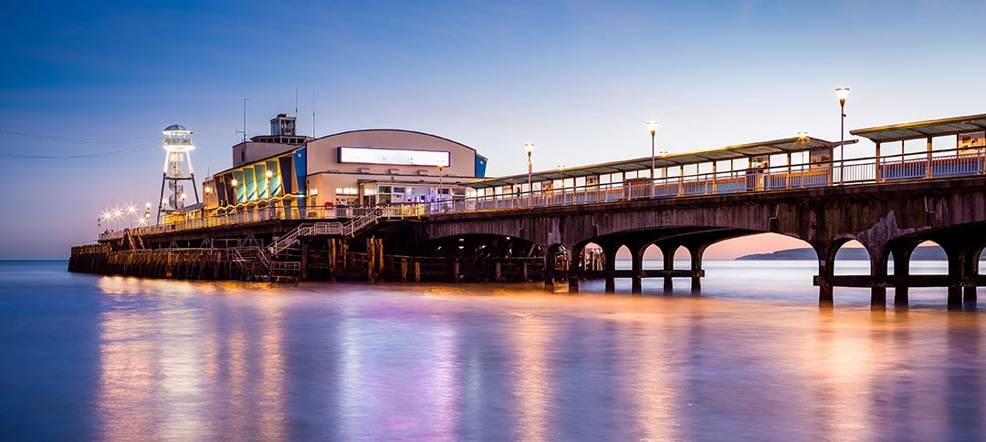 Bournemouth Pier at night