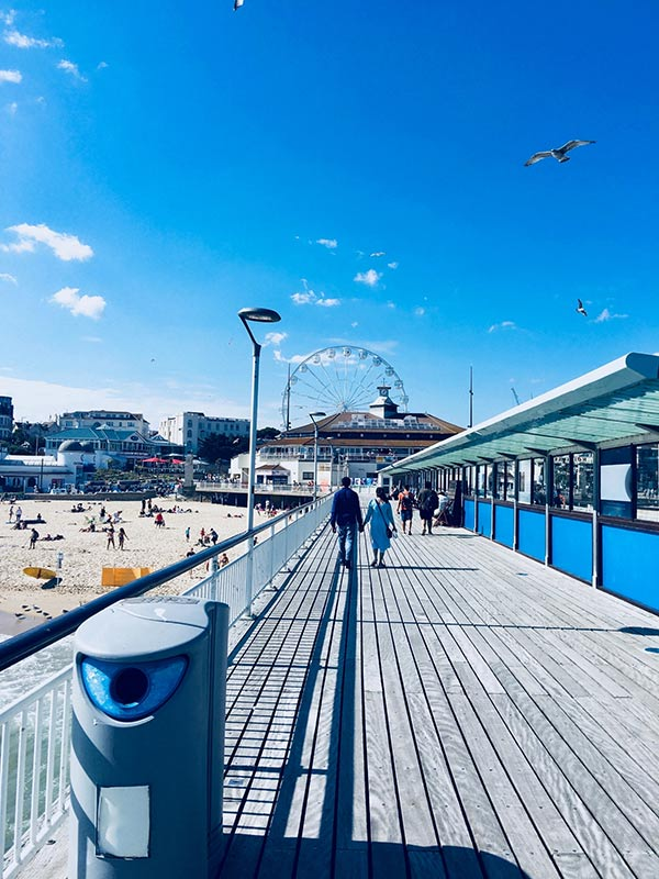 Waling along Bournemouth Pier