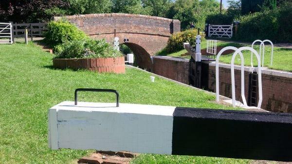Bridgwater canal lock