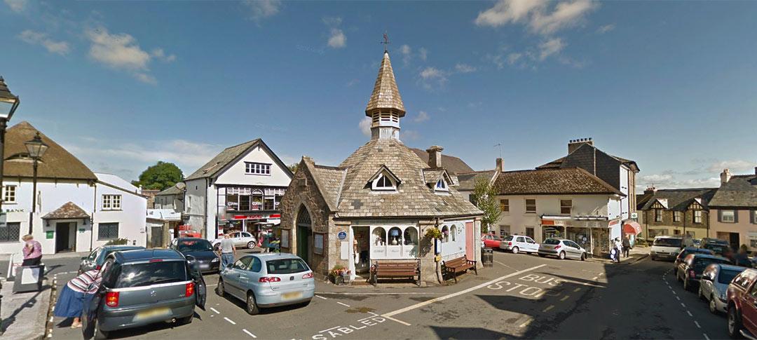Chagford town centre in Devon
