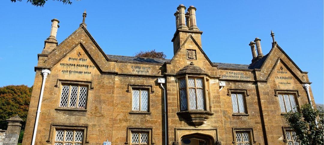 Old Harveys Hospital Building in Chard