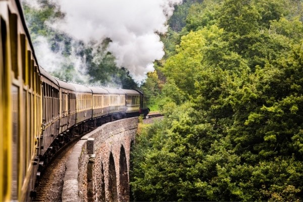 Steam train going to Dartmouth