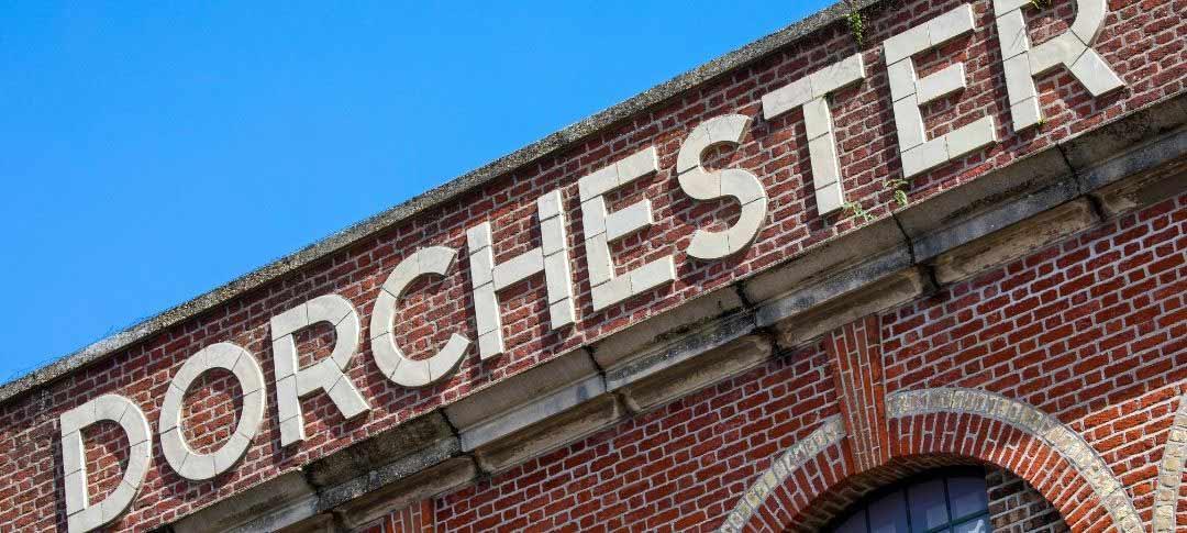 Dorchester sign on old building