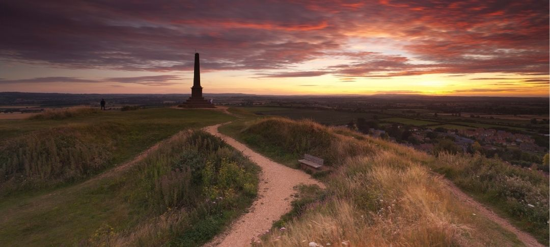 Ham Hill near Yeovil at sunset