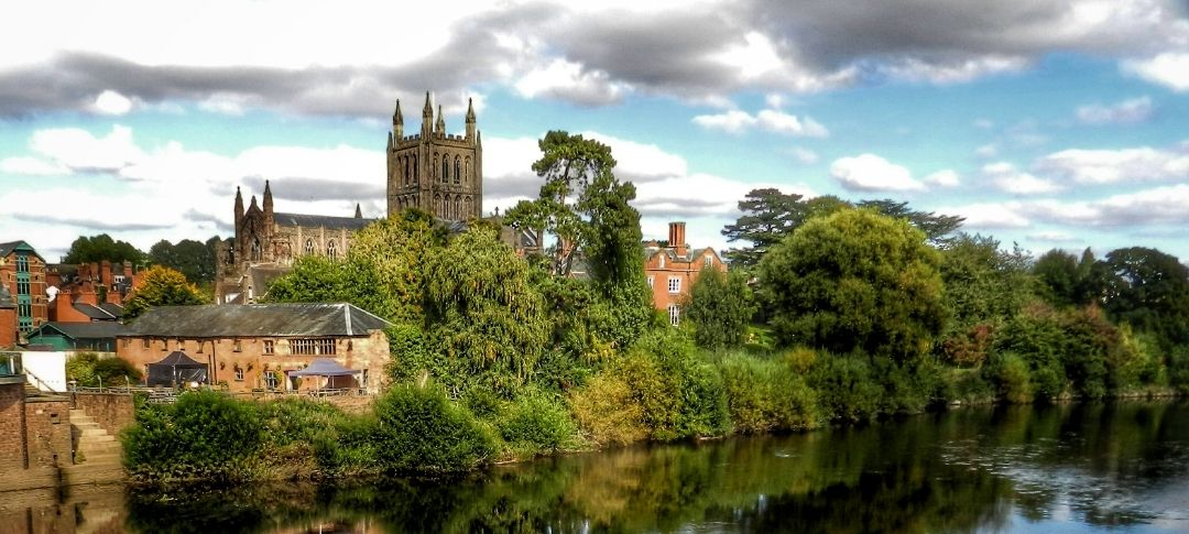 View of Hereford from the river