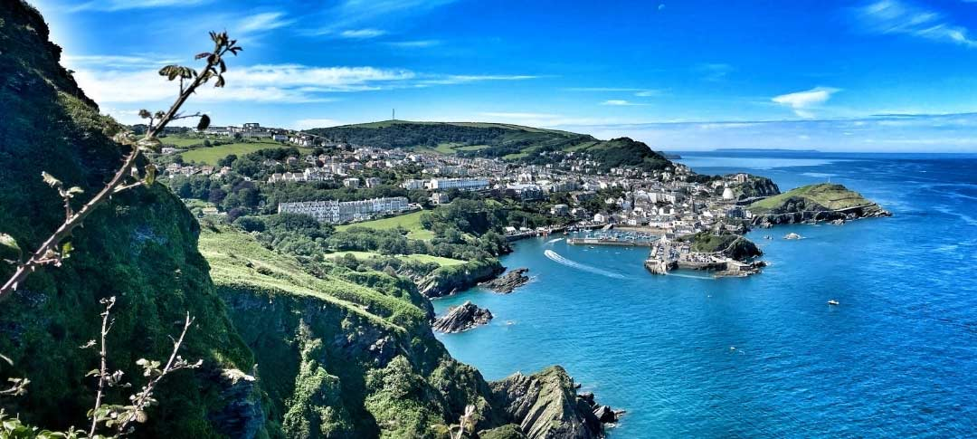 View across the cove to Illfracombe