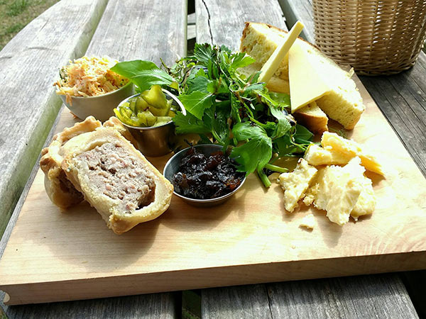 Leicestershire cheese and mowbray pork pie