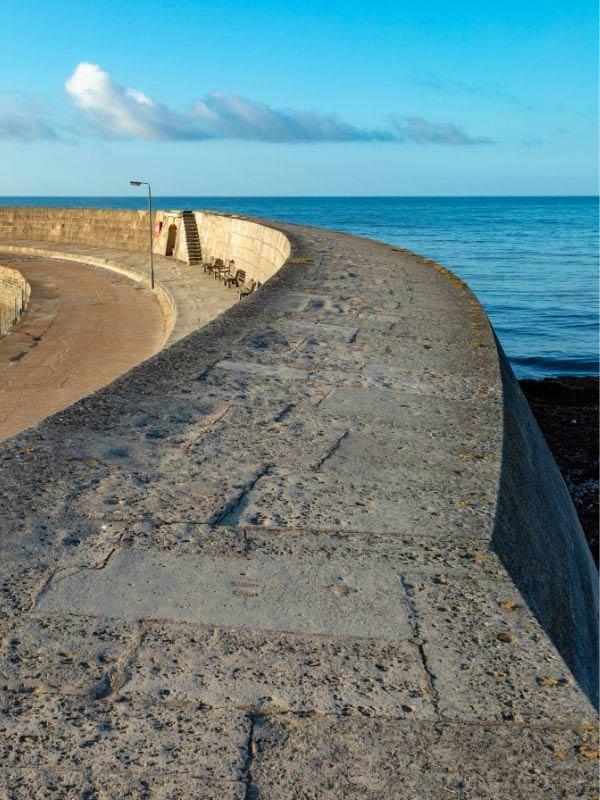 Lyme Regis cob sea wall