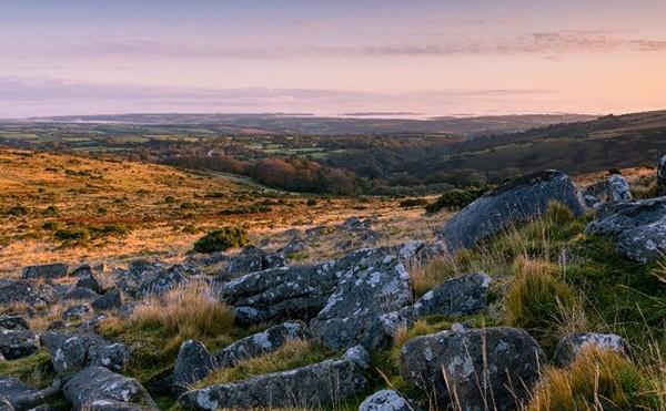 View of Okehampton from Dartmoor