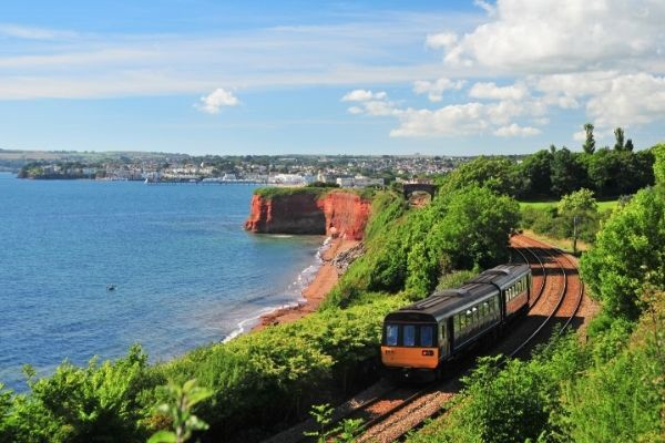View of Paignton above the train line