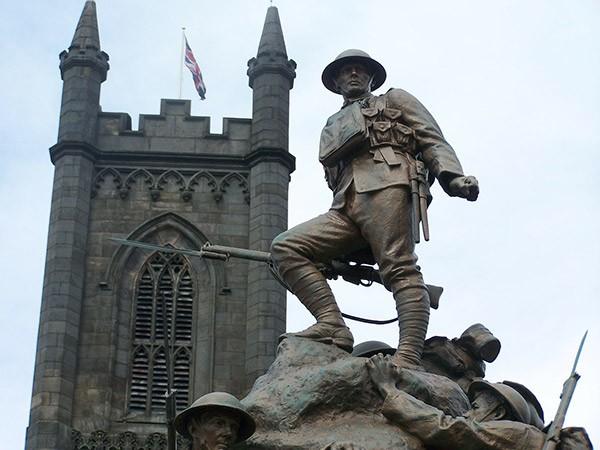 Okeham war memorial in Rutland
