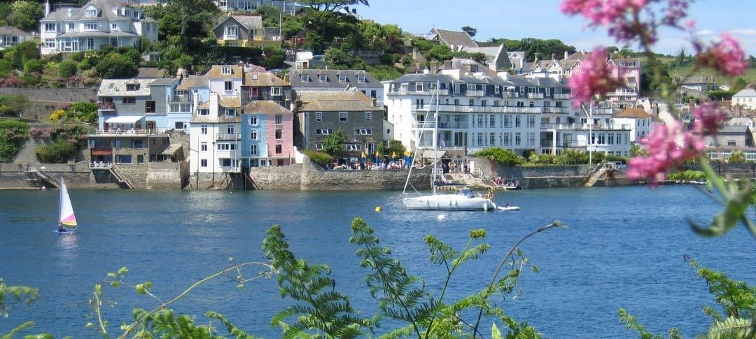 Salcombe seafront in Devon