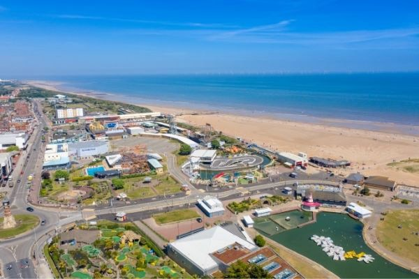 Skegness aerial view of town centre