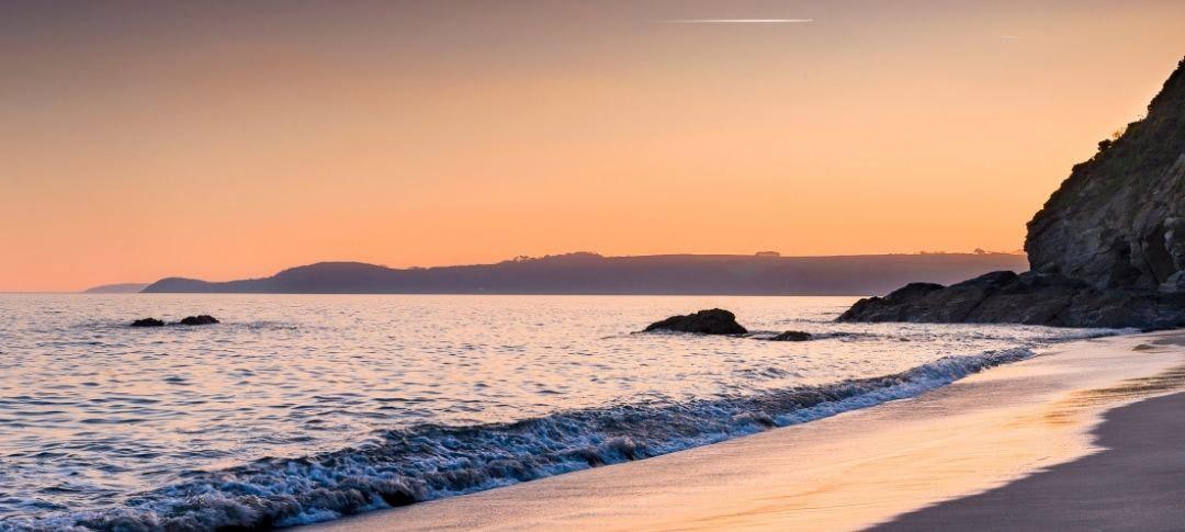 Carlyon Bay near St Austell at sunset
