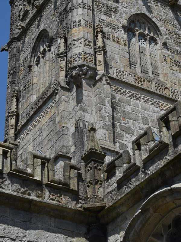 Holy Trinity church steeple in St Austell