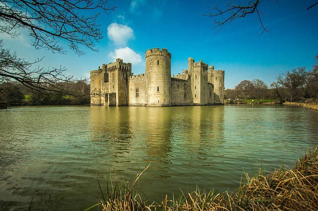 Bodiam Castle in Sussex