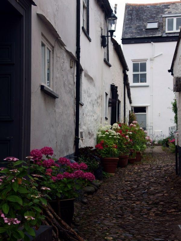 A narrow street in Topsham