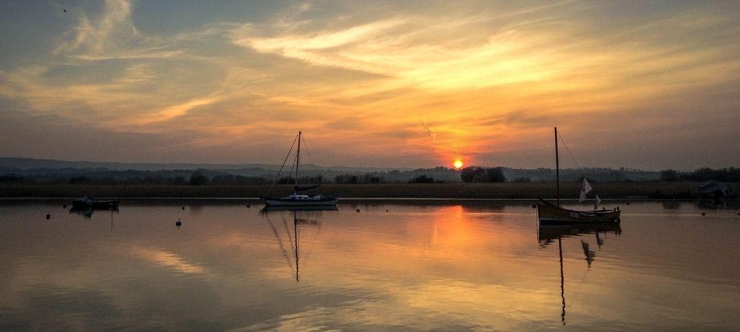 Topsham river sunset