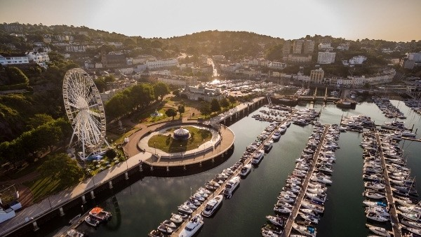 Torquay marina from the air