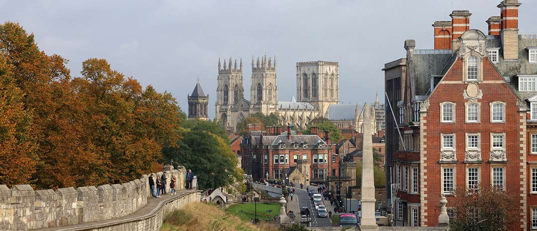 View across York to York Cathedral