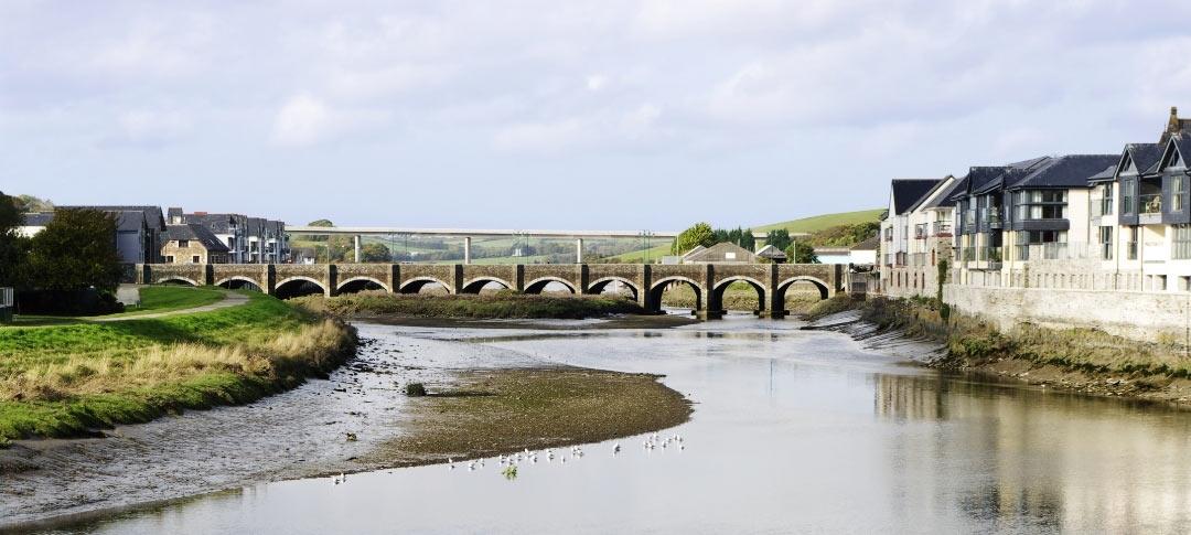 Bridge over river Camel at Wadebridge