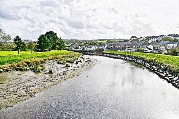 The river Camel at Wadebridge in Cornwall