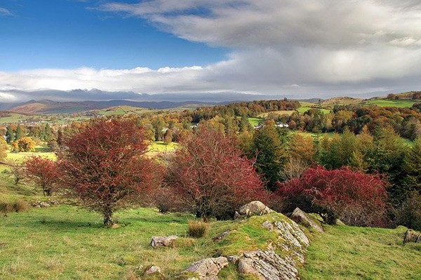 Autumn view of Lake District in Westmorland
