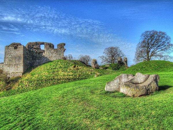 Kendal castle in Westmorland