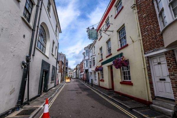 Old street in Weymouth