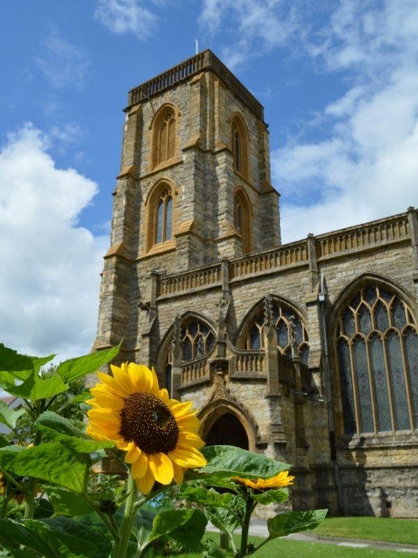 Church garden in Yeovil