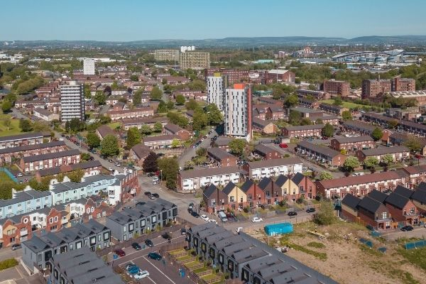 Drone view of Yeovil