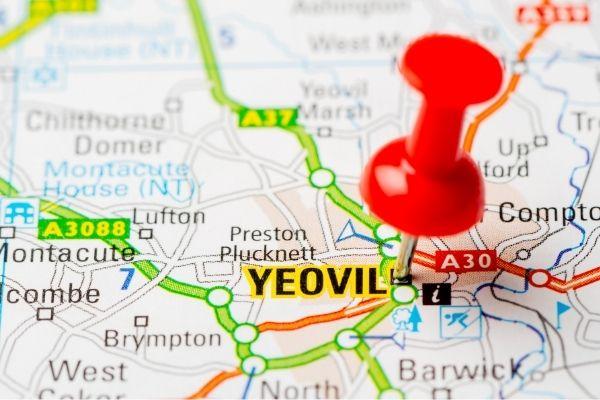 Map of Yeovil