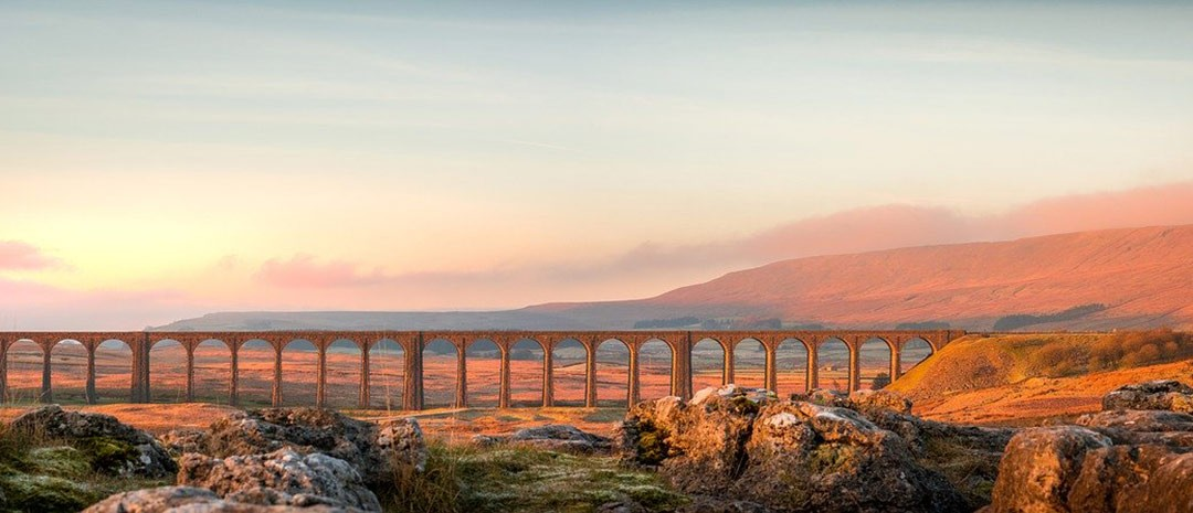 The Ribblehead Viaduct in Yorkshire