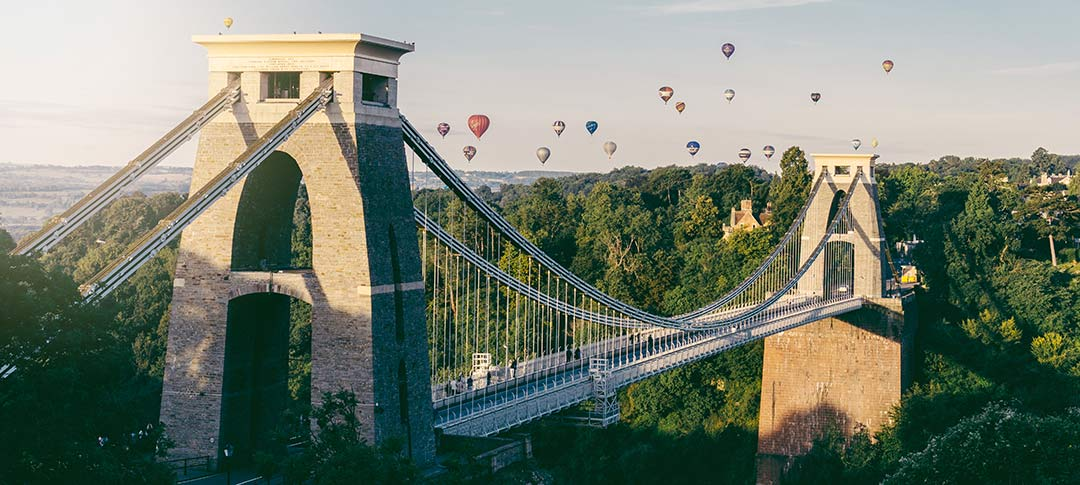 View of Clifton bridge in Bristol