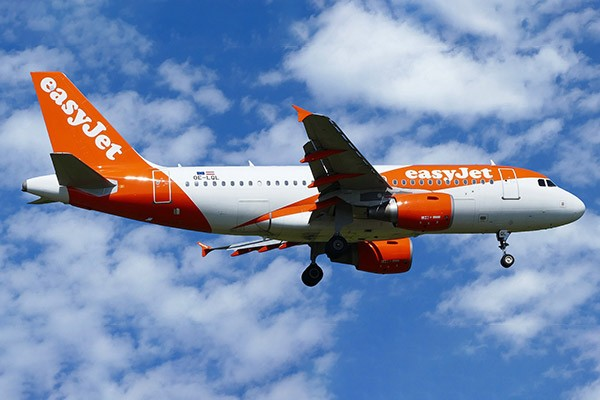 Easy jet plan based in Bedfordshire