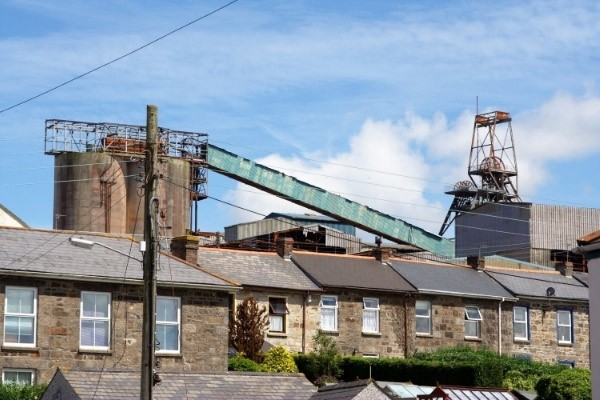 Old tin mine in Camborne