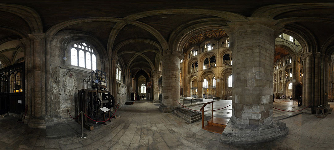 Inside of Peterborough Cathedral in Cambridgeshire