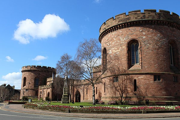 Carlisle Castle in Cumbria