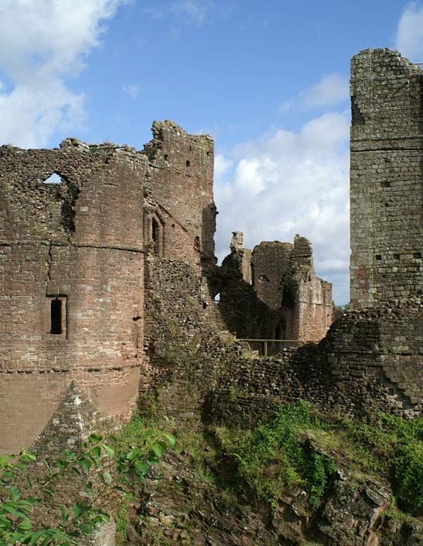 Goodrich Castle in Herefordshire