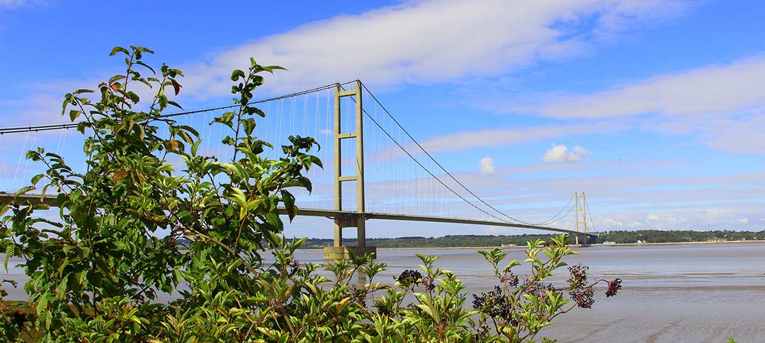 The Humber Bridge in Lincolnshire