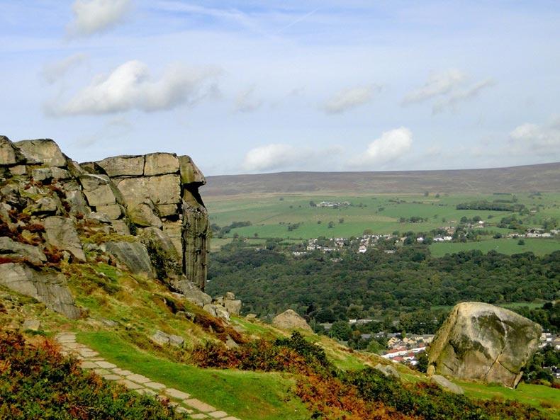 View across Ilkley Moor near Bradford