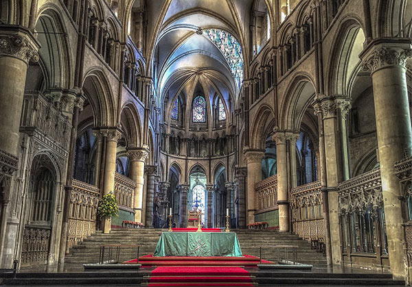 Inside of Caterbury Cathedral in Kent
