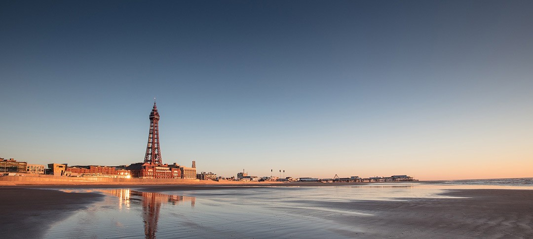 Blackpool seafront in Lancashire