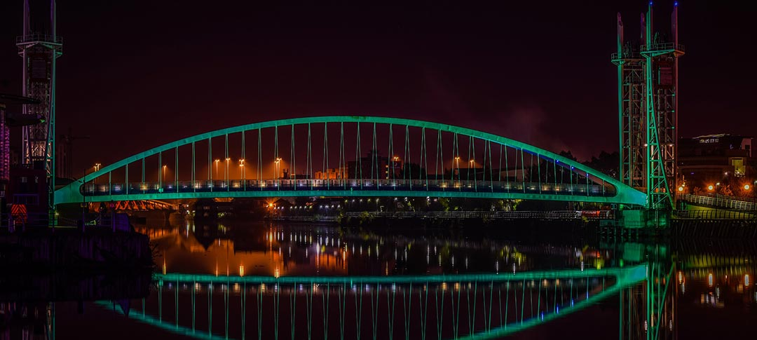 Lowry bridge in Manchester